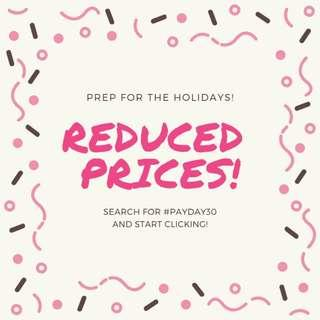 REDUCED PRICES! #DEC50