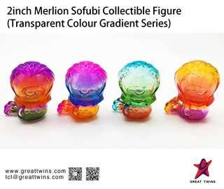 2inch Merlion Sofubi Collectible Figure (Transparent Colour Gradient Series)