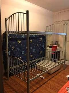Bed bunk convert 2single bed