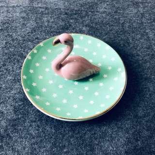 Sass & Belle flamingo trinket dish