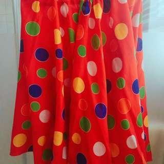 SALE Custom made colorful Polka balloon skirt