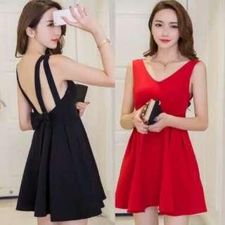 Dress #226 Ribbon Flare Mini