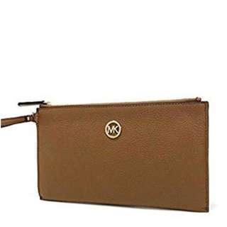 MICHAEL KORS Fulton Large Zip Clutch Wristlet Wallet 35S3GFTW3L
