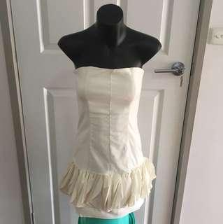 Light Cream Ruffle Dress Size 6