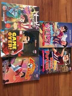 6 Novel Siri Ana Muslim ( Pulangkan Basikal Syamil , Game Over, Kau Boleh Aku Pun Boleh!, Aku Ayah & Futsal)