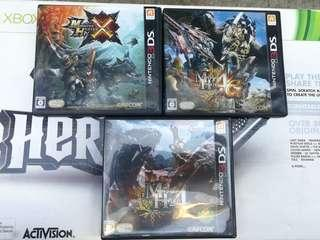 3DS game, 3DS Monster Hunter 遊戲三隻 全部$60元三隻$60=3