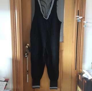 New 黑色背心 jumpsuits