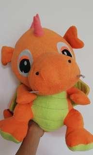 Orange dragon soft toy