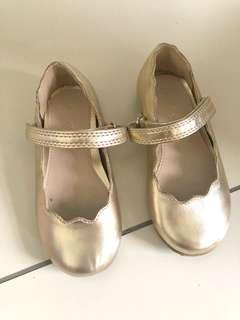 Next gold baby/toddler shoes