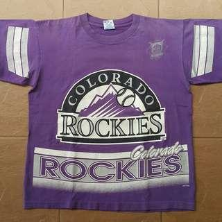 Vintage colorado rockies t shirt
