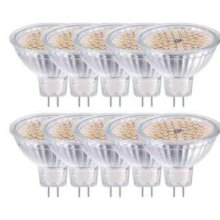 (E125) GVOREE GU5.3 MR16 LED Light Bulbs 5W 10 Pack