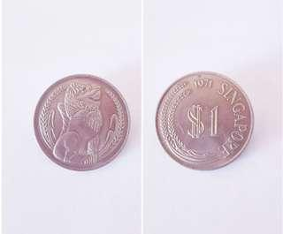 1971Singapore Mint Lion$1Coin