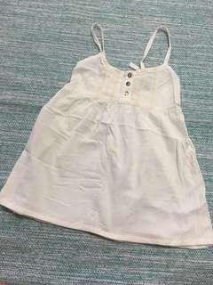 White singlet top beach wear