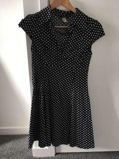 60s Vintage Polka Dot Dress A Line