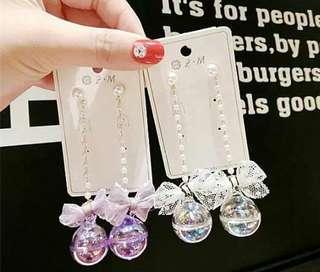 🚚 【新品】韓國 水球 珍珠 耳環
