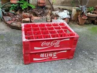 可口可樂飲料箱(塑膠提籃)—古物舊貨、企業品牌收藏