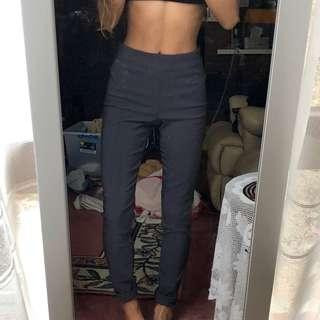 Charcoal grey cigarette pants