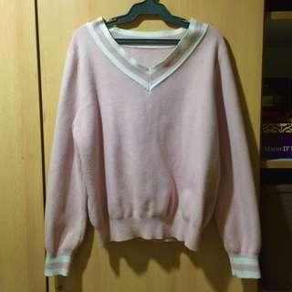 FUDGE ROCK PINK KNITTED SWEATER