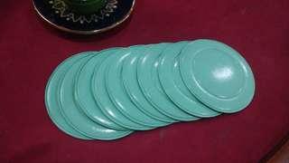 9-pc Green Coasters