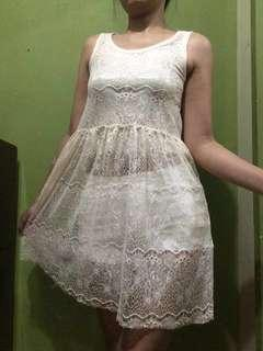 Lace dress (white shorts not included)