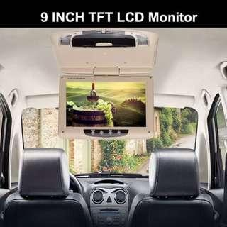 New Passenger Roof Top Foldable 9 inch LCD with Dome LED Lights