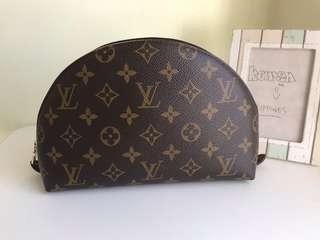 Louis Vuitton Trousse Demi Ronde Cosmetic Pouch MM in Monogram