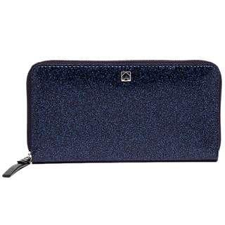 KATE SPADE Neda Mavis Street Off Shore Blue Zip Around Wallet Women WLRU2388