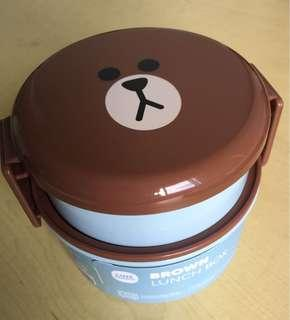 New & Unused Lines Friends Brown & Cho Cho containers