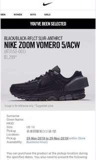 US 10 Nike Zoom Vomero 5 ACW