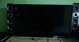 Tv 42 inch with sinemax + speker