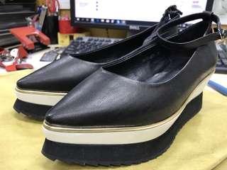 女裝厚底皮鞋 size 38 , leather shoes