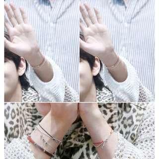 🚚 ✨現貨✨金泰亨💜同款手環 防彈少年團同款 BTS同款