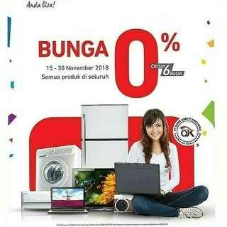Home credit Promo bunga 0%