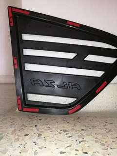 Car rear side 3D carbon window triangle mirror cover protector (RM35)