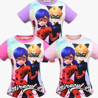 Preorder: Miraculous Lady Bug Design Top/ Tee