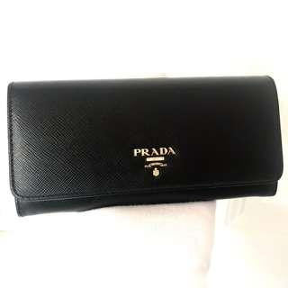 PRADA Black Saffiano Leather Wallet 100% AUTHENTIC+BRAND NEW! #1MH132