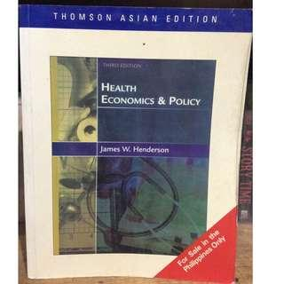 HEALTH ECONOMICS AND POLICY 3rd Edition