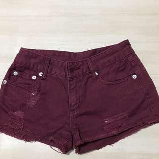 hot pants maroon