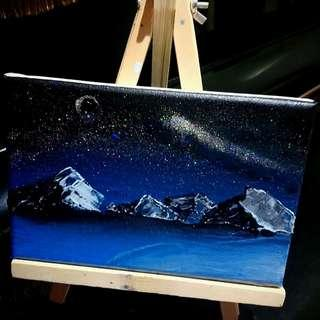 Starry Winter (Framed Acrylic Painting)