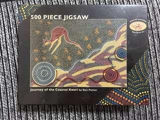 New! 500 piece jigsaw puzzle. Aboriginal Art.