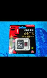 🚚 金士頓64GB Class3 (U3)等級 4K支援手機記憶卡2018最新版#十一月良品半價