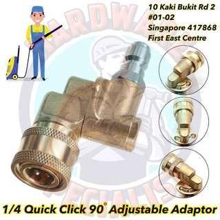1/4 Quick Click 90 Degree Adjustable Adaptor