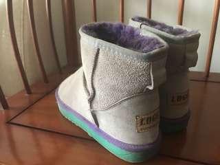 毛怪配色(*☻-☻*)內增高低筒雪靴
