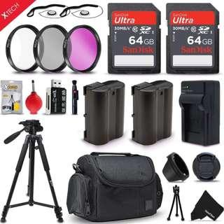 PRO Accessories Kit for Canon EOS 80D 70D 60D 60Da 5D Mark II DSLR Cameras