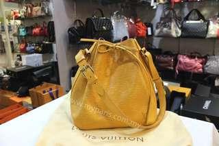 Louis Vuitton Yellow Epi Leather Petit Noe