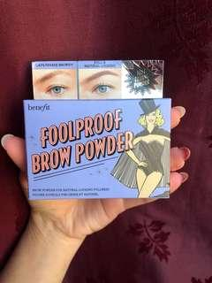 Benefit foolproof brow powder in shade 3