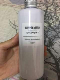Muji moisturizing milk light