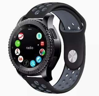 Samsung Galaxy Watch / Gear S3 Frontier / S3 Classic / Xiaomi Amazfit / Pebble Time Steel 22mm Rubber Strap