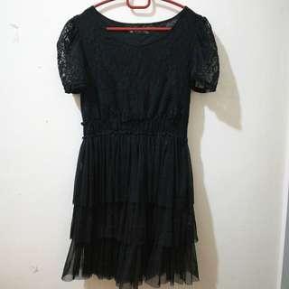 Women Black Lacey Dress #DEC50