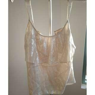 Forever new metallic top- size 6